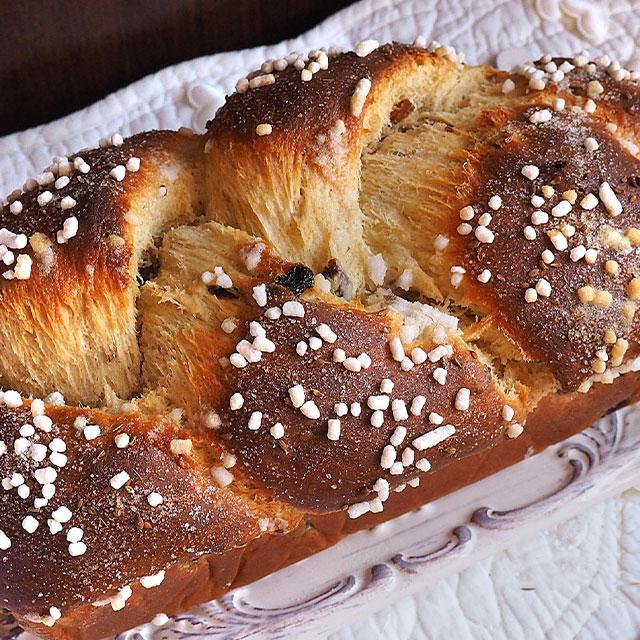 Treccia fichi, noci e uvetta con miscela Pan della Vigna